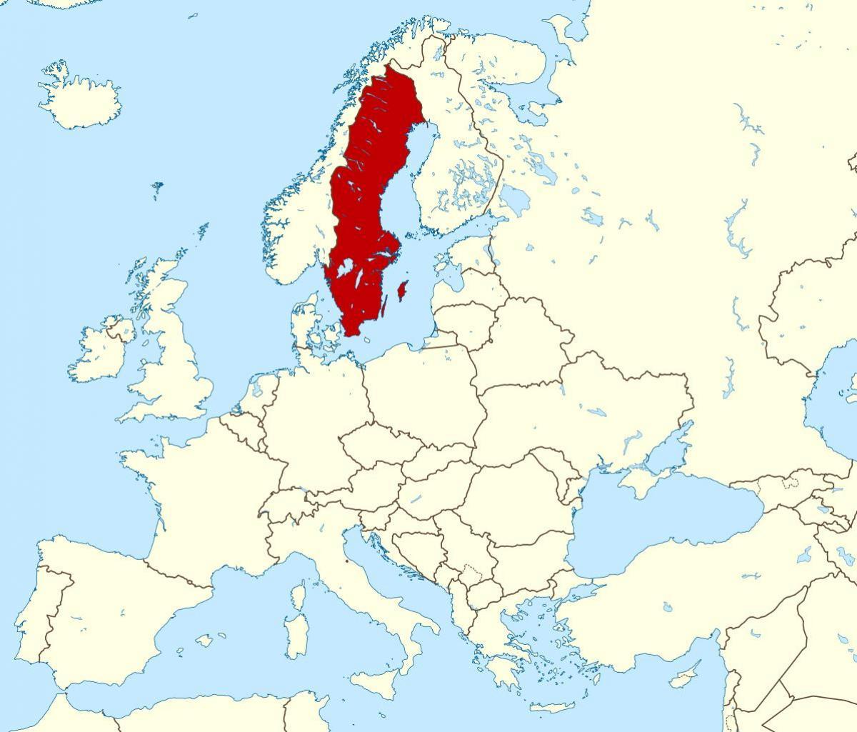 Suedia Harta Europei Harta Suediei In Europa Europa De Nord