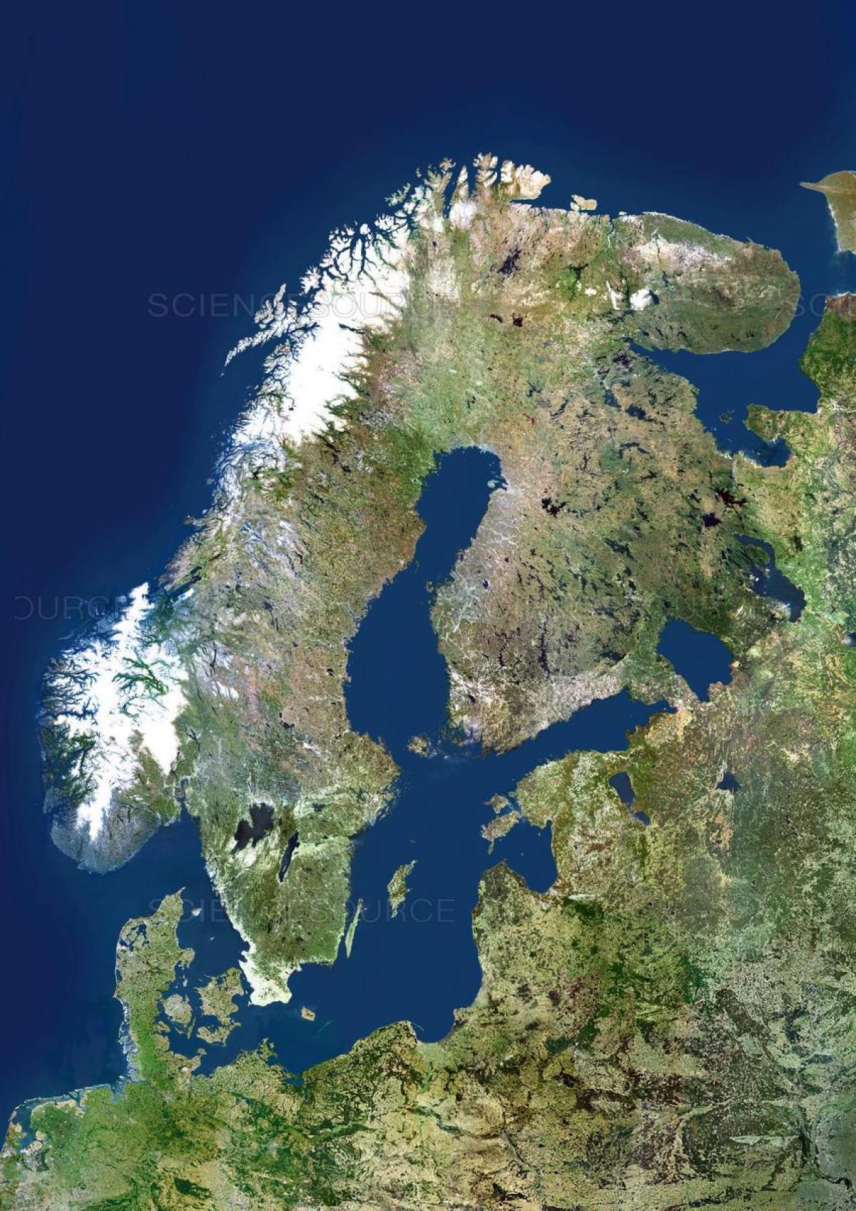 Suedia Harta Prin Satelit Harta Suediei Prin Satelit Europa De
